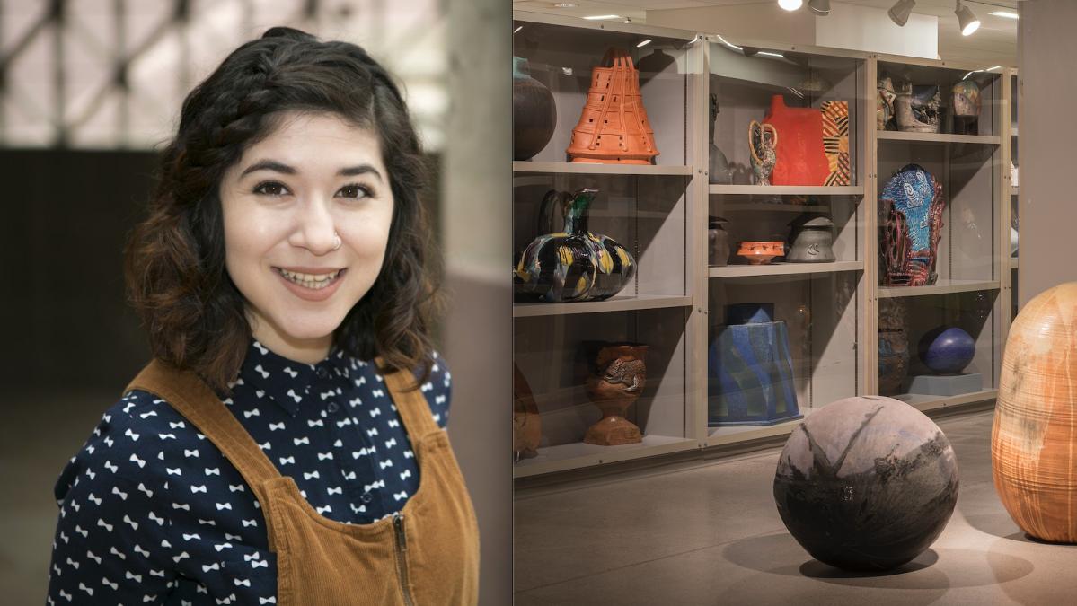 Image credit: Assistant Registrar Ariana Enriquez (left), ASU Art Museum Ceramics Research Center (right).