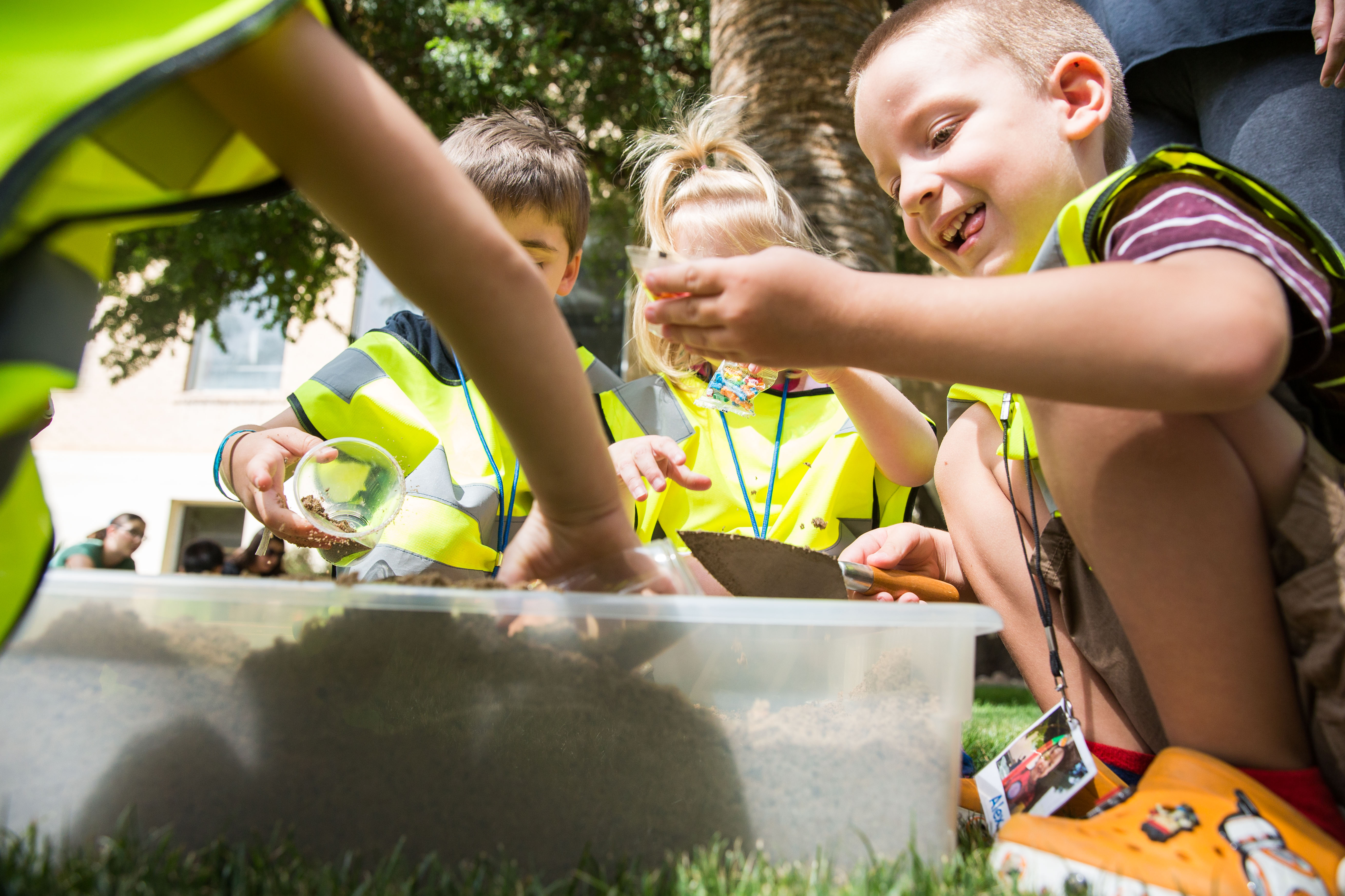 Preschoolers dig archaeology at ASU mock excavation