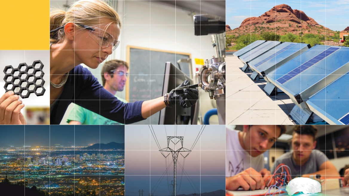 energy technology collage