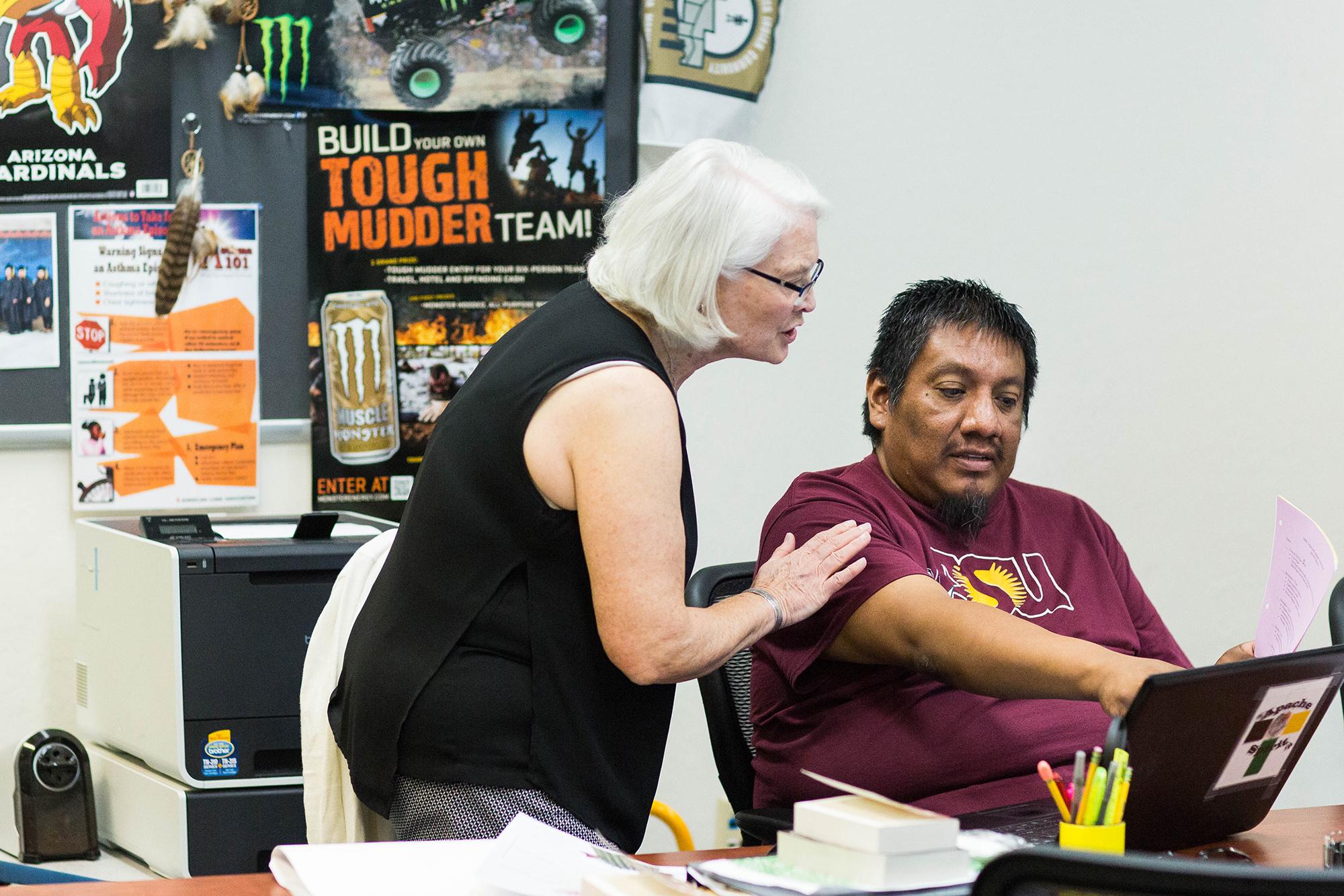 instructor teaches