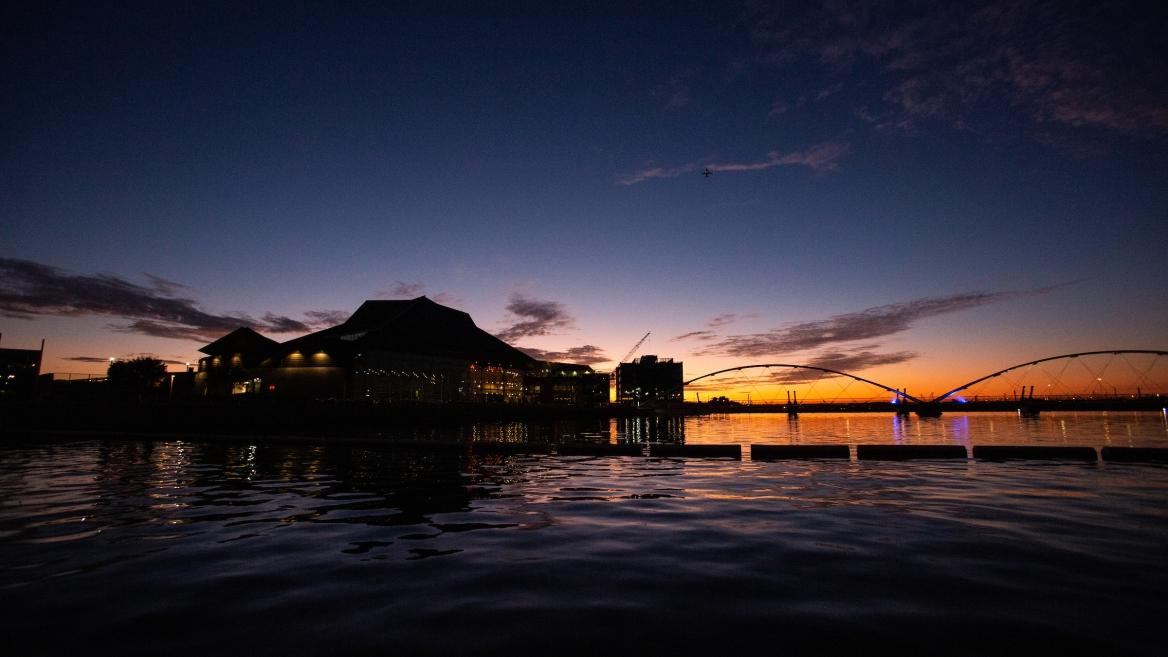 Tempe Town Lake at sunset