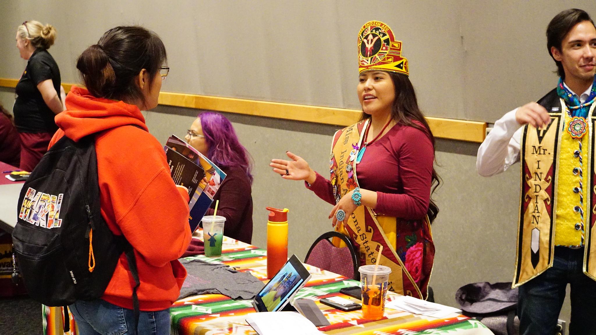 ASU representatives speak with students