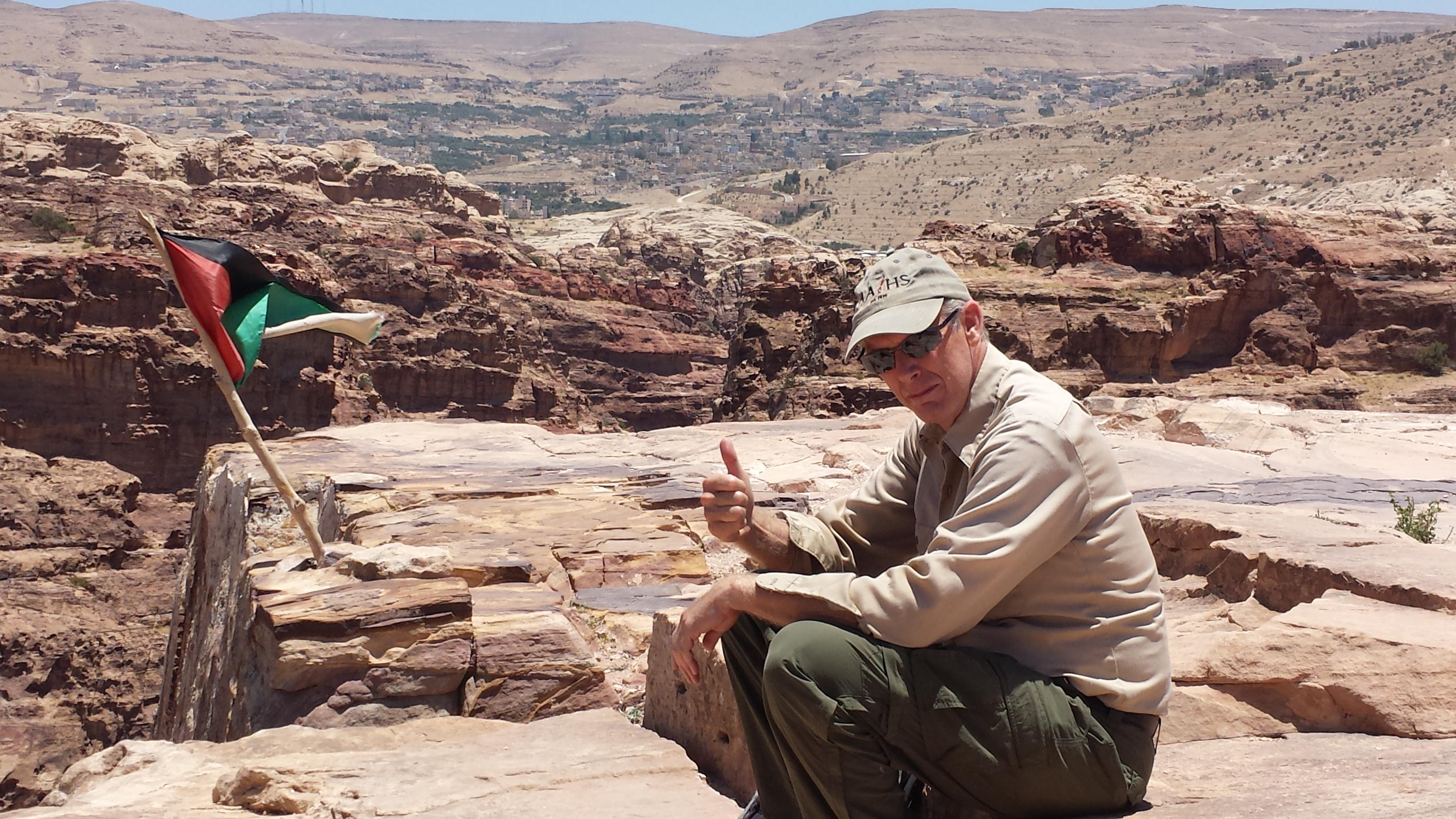 photo of Prof. David Abbott at Petra, Jordan