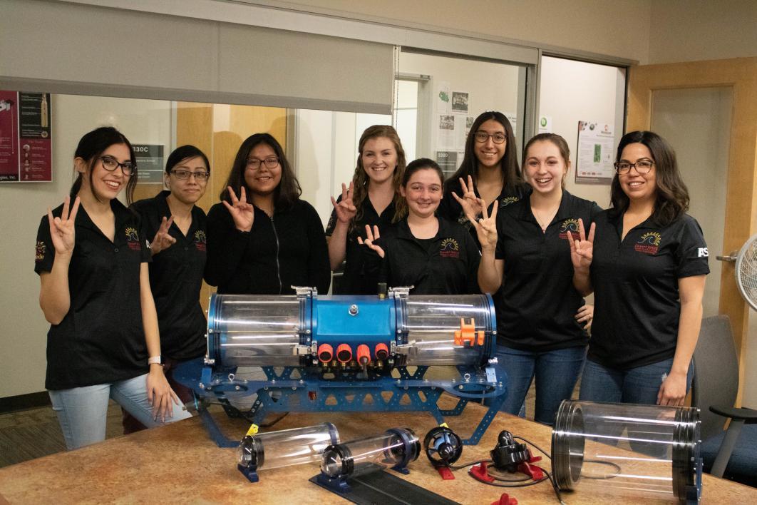 Desert WAVE team ASU Poly underwater robotics