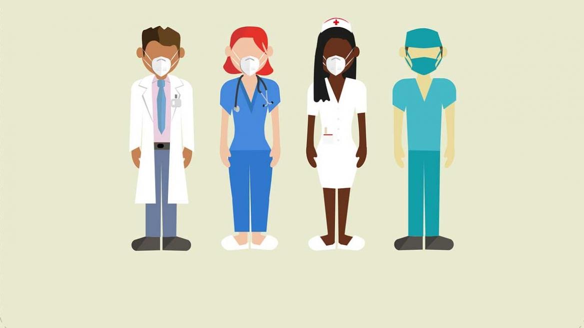 Pixabay illustration of medical personnel