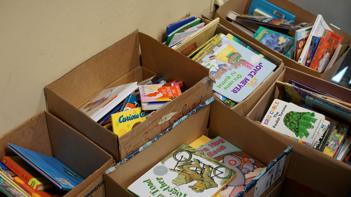 School of Social Work students collected nearly 1,000 children's books for distribution at Phoenix-area domestic-violence shelters as part of MLK Day of Service