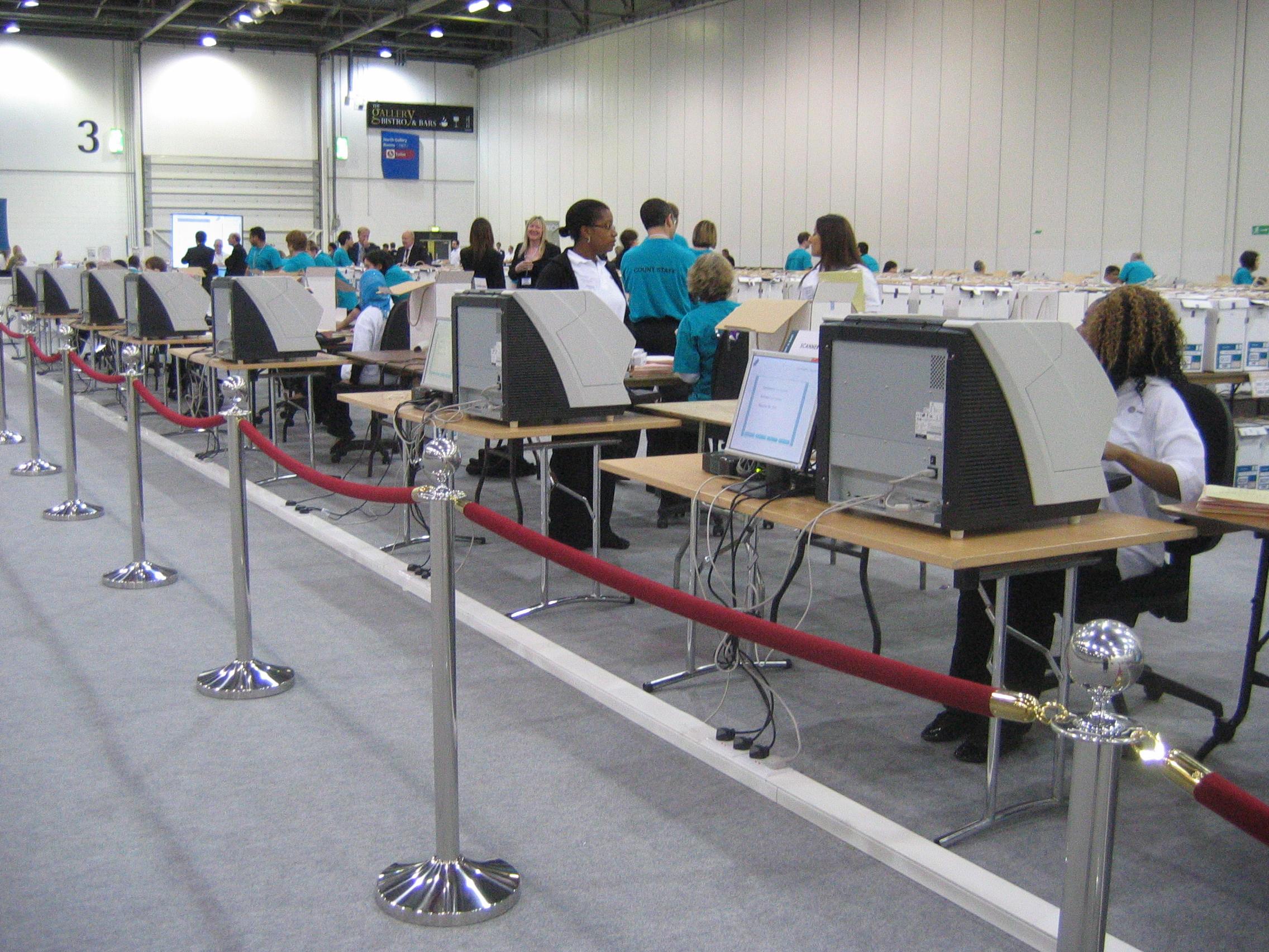 A photograph of voters on election day
