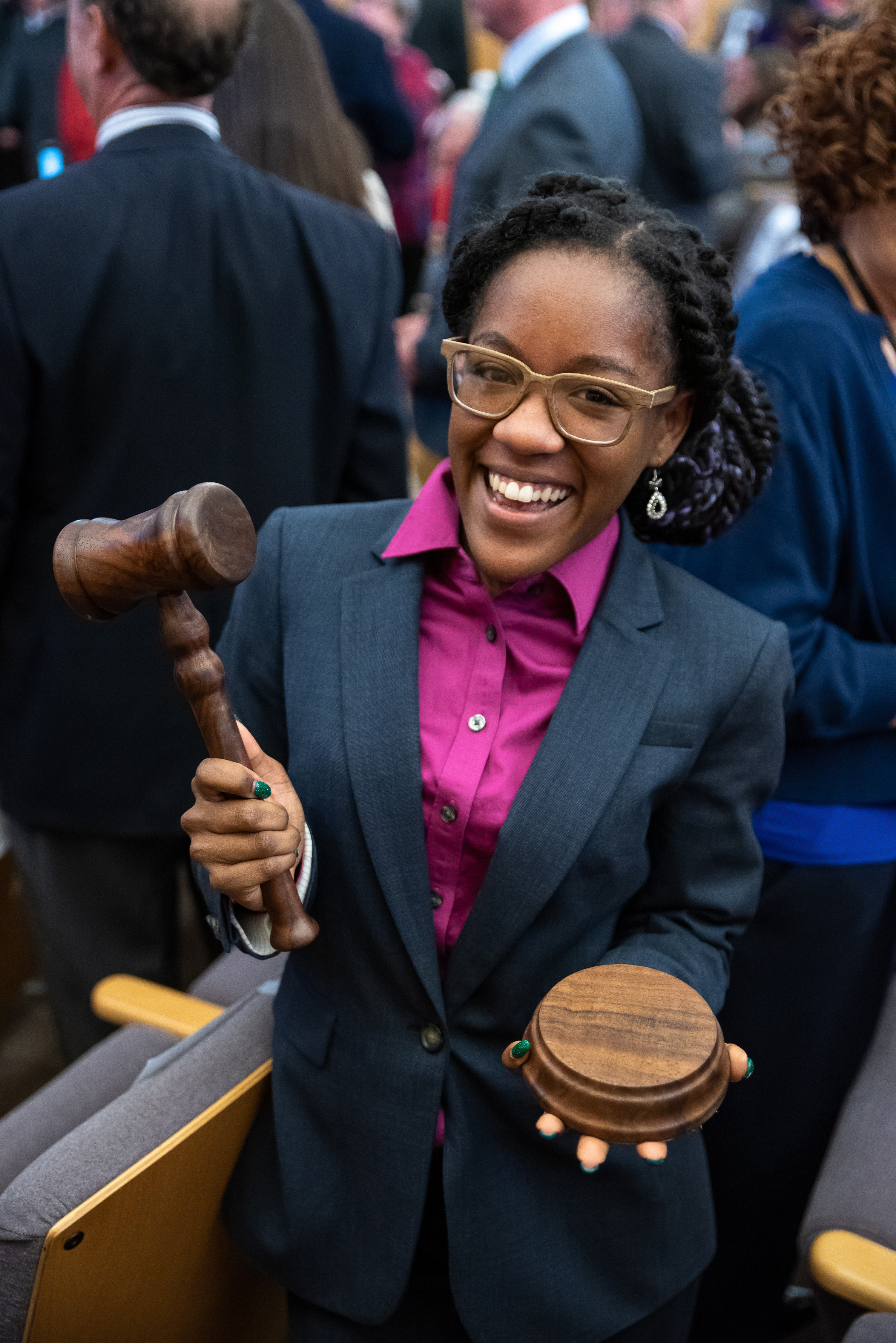 Elaissia Sears, an alumna of The College of Liberal Arts and Sciences' School of Politics and Global Studies, was sworn is as Justice of the Peace for the West Mesa Justice Court this January.