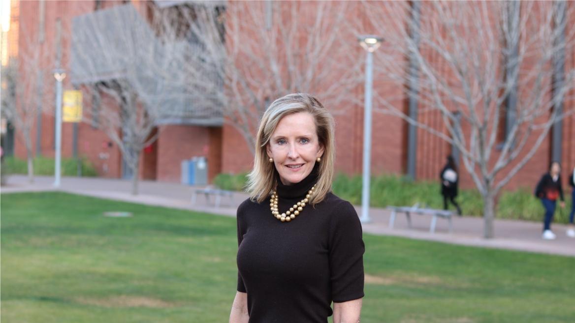 portrait of ASU alumna Karrin Taylor Robson