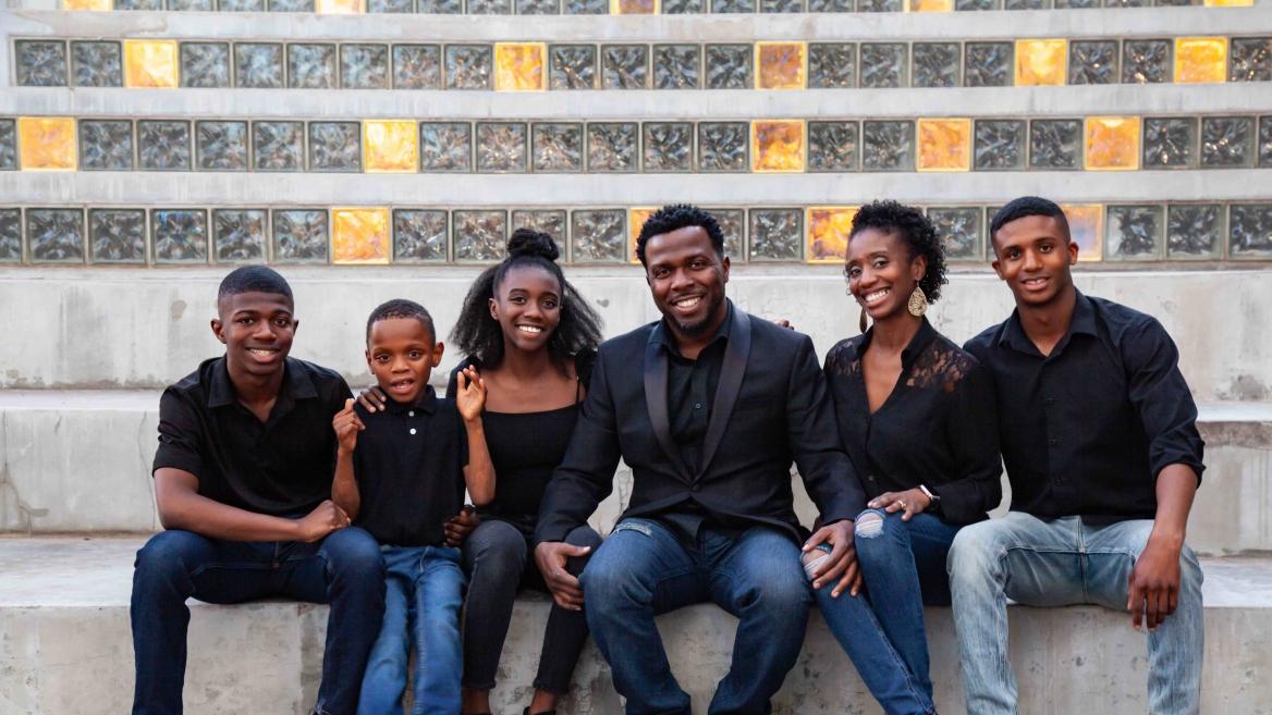 Elijah and Tiffany Matthews and family