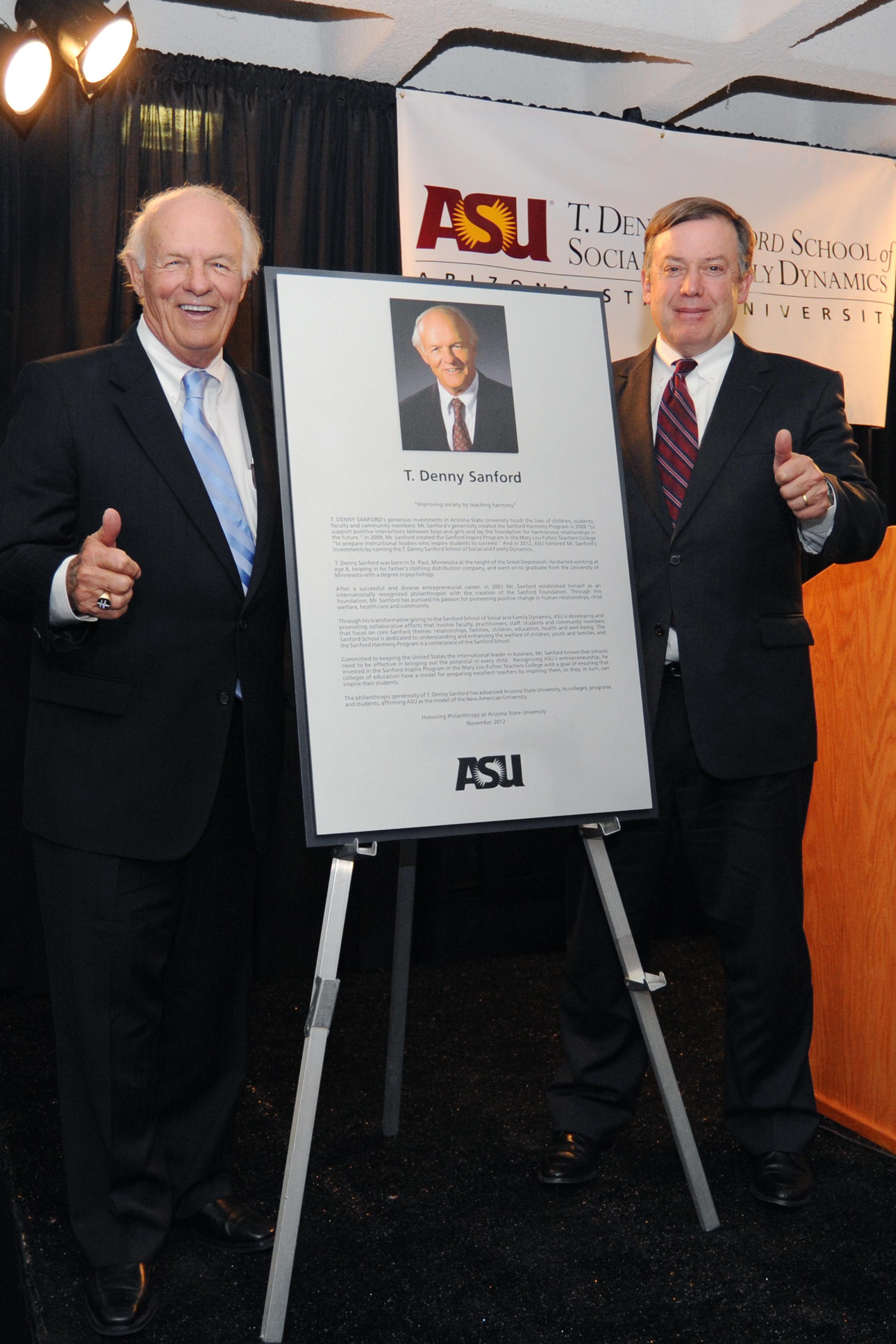 T. Denny Sanford has established the Horatio Alger-Denny Sanford Scholarship Program at 12 universities, including ASU