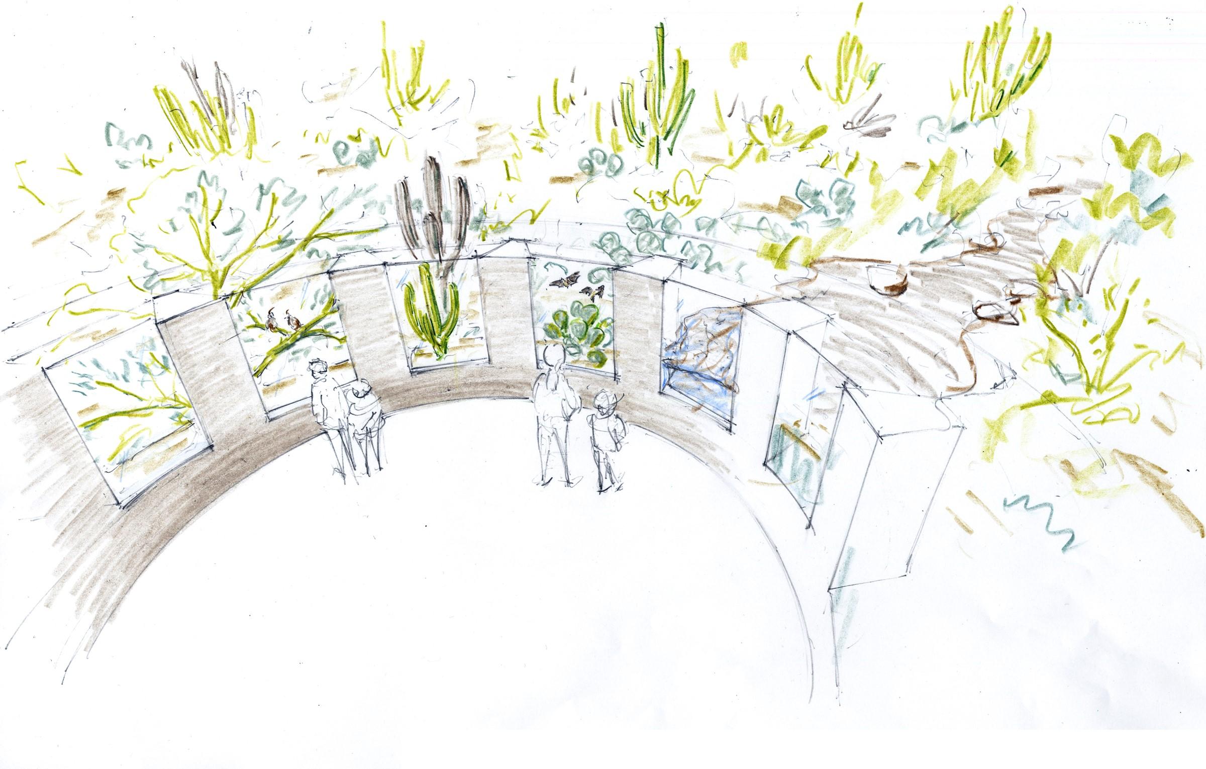 Artist rendering of exhibit window