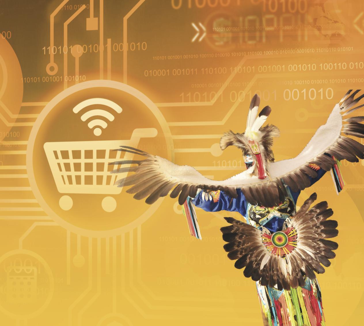 Graphic artwork of Native American e-commerce