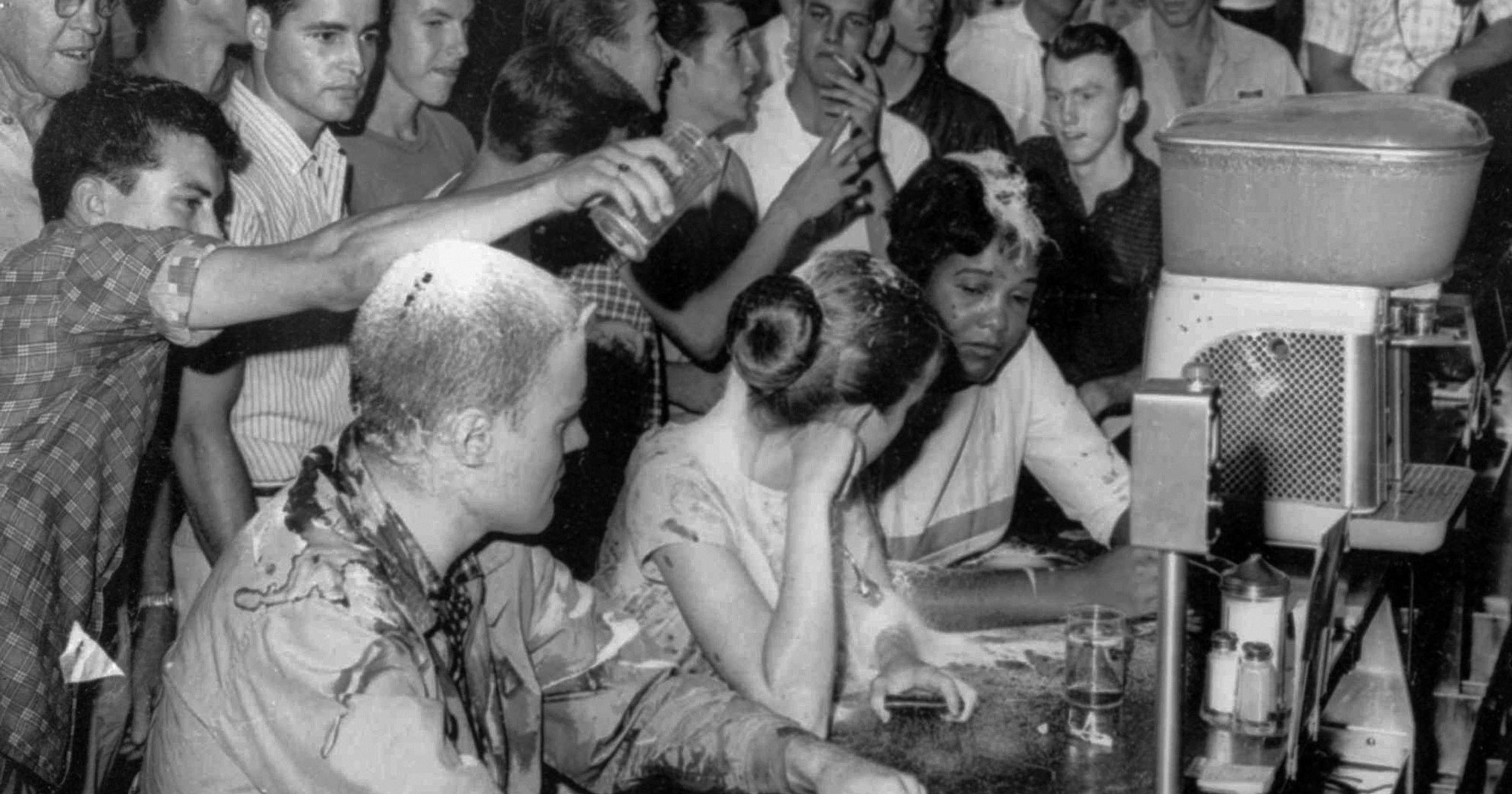 People at lunch counter