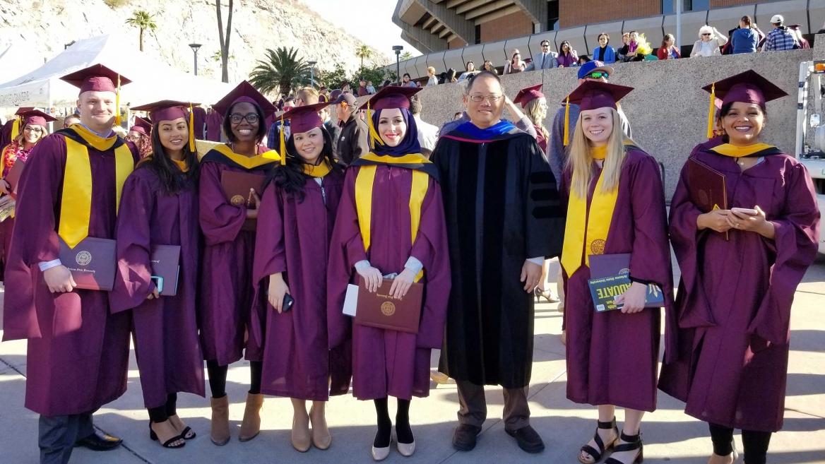 Carl Yamashiro and students