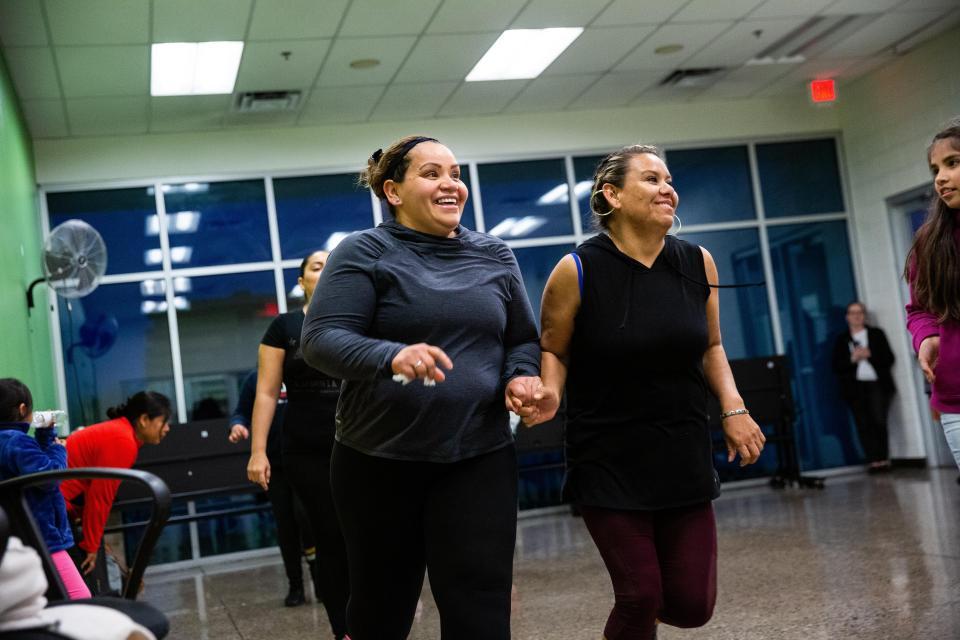 Image of two women dancing