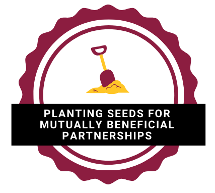 planting seeds for mutually beneficial partnerships logo