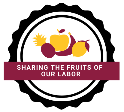 sharing the fruits of our labor logo