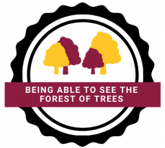 being able to see the forest of trees logo